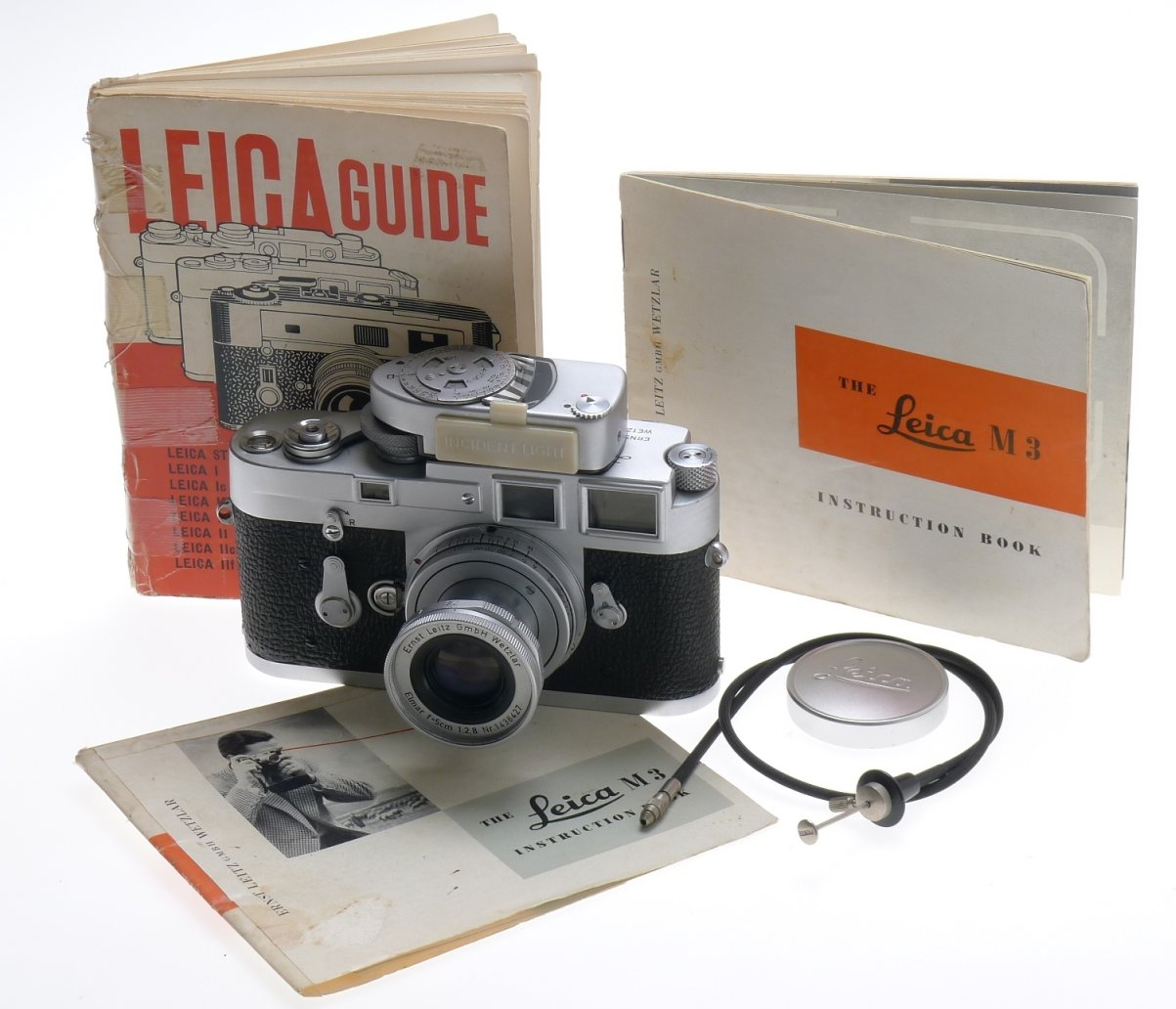 leica m3 camera 35mm film elmar 2 8 50mm mc meter lens cable cap rh ebay com Leica M4 leica m3 user manual pdf