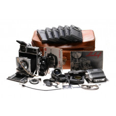 Linhof 6x9 large camera kit 3 lenses cams grip hoods filters back holders more