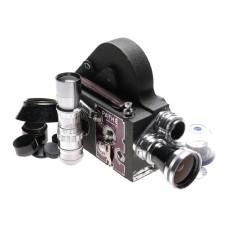 Pathe 16mm Movie camera 4 Schneider lenses ultra wide mega kit Super 16