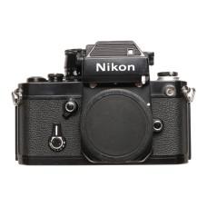 Nikon Black F2 SLR analog camera 35mm film body cap and strap only