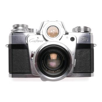 Contarex Bulls Zeiss chrome SLR 35mm film camera Planar1:2/50 cap case f50mm kit