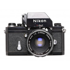 Nikon F Black SLR film camera clean condition Nikkor-H 1:2 f=50mm