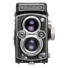 Rolleiflex TLR 6x6 vintage film camera Zeiss Tessar 3.5/75mm coated lens