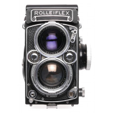 Rolleiflex 2.8 camera TLR Zeiss Planar 80mm lens kiit case strap cap 2.8/80mm