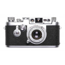 Leica IIIg camera with Elmar 3.5 f=5cm chrome coated lens 3.5/50mm Excellent