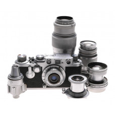 Leica IIIf self timer 5x LTM lenses case kit accessories 35mm film Leitz camera