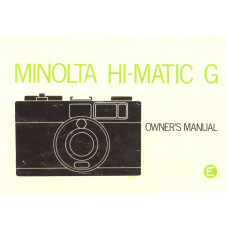 Minolta hi-matic g owners manual instruction user guide