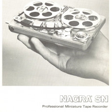 Nagra sn professional minuature tape recorder instruction manual