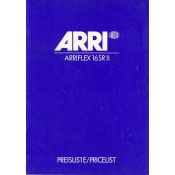 Arriflex 16 sr II pricelist vintage camera user instruction manual