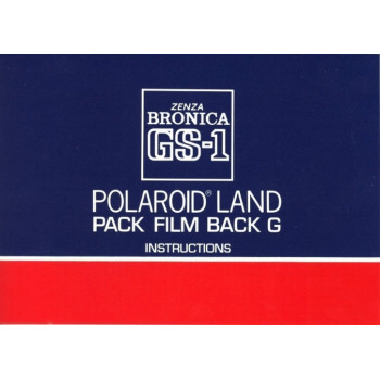 Bronica gs-1 polaroid land pack film back g instructions
