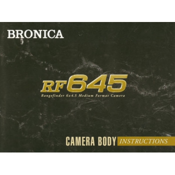 Bronica rf645 camera body instructions user manual