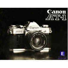 Canon at-1 slr camera instructions user manual