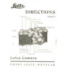 Leitz vintage camera directions part i user manual rare
