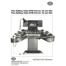 Film edit table btm635 35mm btm616 16 arri user instruction manual