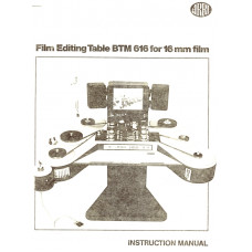 Film editing  btm616mm for 16mm