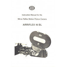 Instruction manual arriflex 16bl vintage camera