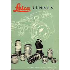 Leica camera lenses sales brochure information data