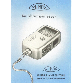 Minox vintage film camera light meter user instructuoin manual