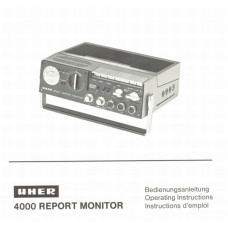 Uher 4000 report monitor operating instructions 65 page