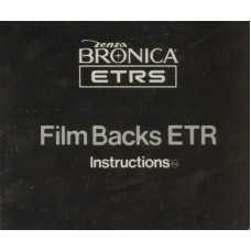 Zenza bronica etrs film back etr instruction manual