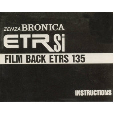 Zenza bronica etr si film backs etrs 135 instructions