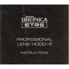 Zenza bronica etrs professional lens hood e instructions