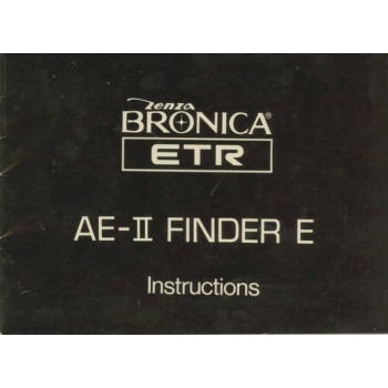Zenza bronica etr ae-ii finder e instructions