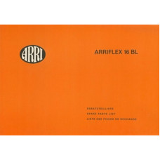 Arriflex 16 bl camera spare parts list catalogue detail
