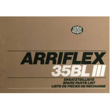 Arriflex 35 bl iii 3 camera spare parts list catalogue