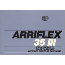 Arriflex 35 iii spare parts list service repair manual