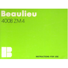 Beaulieu 4008 zm 4 user instruction manual