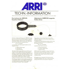 Arriflex techn information adjustment magazine friction