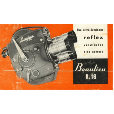 Beaulieu r16 reflex viewfinder cine camera instructions