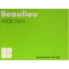 Beaulieu 4008 zm4 camera instructions for use manual