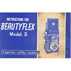 Beautyflex model d instructions for use reflex camera