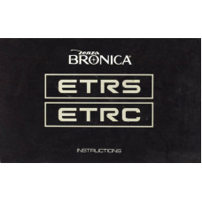 Zenza bronica etrs etrc camera instruction manual