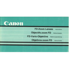 Canon fd camera zoom lenses instructions user manual