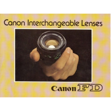 Canon fd interchangeable lenses brochure information