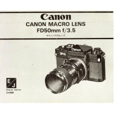 Canon makro lens fd 50mm f3.5 instructions user manual