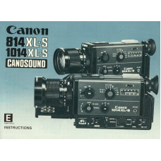 Canon 814 xl-s 1014 xl-s conosound camera instructions