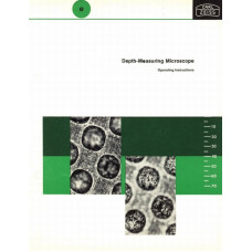Zeiss depth measuring microscope operating instructions