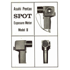 Asahi pentax model ii spot meter instruction manual