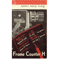 Bolex h16 reflex camera frame counter instructions book
