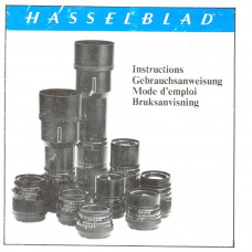 Hasselblad vintage classic lenses user instruction manual