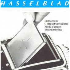 Hasselblad vintage screen back user instruction manual