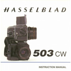Hasselblad 503 cw camera instruction manual