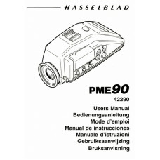 Hasselblad pme90 metered finder user instruction manual