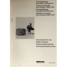 Wild universal lamp hbo-200 burner instructions only