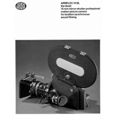 Arriflex 16bl mirror shutter film motion picture manual