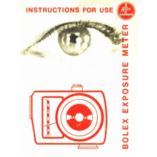 Bolex exposure light meter instruction for use only